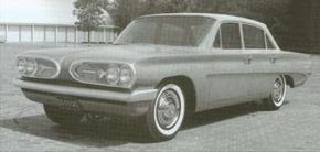 By September 1959, full-size clay models were well along for a Pontiac version of a front-engine Y-body car to be shared with Buick and Oldsmobile.