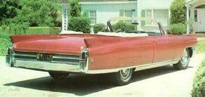 The 1963 Cadillac Eldorado featured a shorter front end, but longer rear end.
