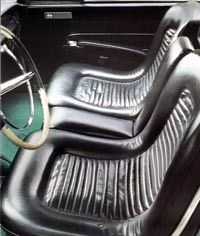 One-piece bucket seats were installed in front.