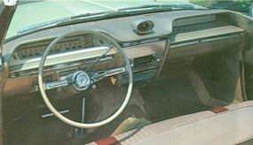 The Buick LeSabre came with a 364-cid, 235/250 horsepower V-8 engine.