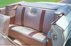The snazzier interior of the Buick LeSabre convertible helped boost sales.