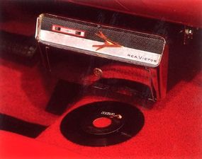 One of the car's options included a Highway HiFi RCA Victor record player.