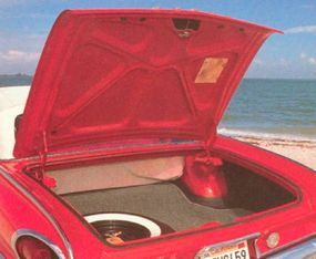 There was plenty of storage space in the trunk.