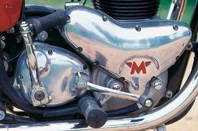 This the G-12's 650-cc vertical twin engine. Later models had a 750-cc vertical twin.
