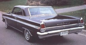New styling made the 1963 Oldsmobile F-85 Jetfire look like a miniature version of that year's full-size Eighty-Eight hardtops.