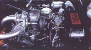 From any angle, the Oldsmobile F-85 Jetfire's 215-bhp Turbo-Rocket engine was impressive.