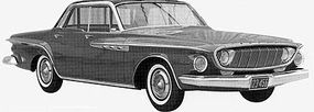 A nearly final mockup from February 1960 wears the headlights and grille that became the 1962 Dodge look.
