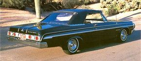 The 1964 Dodge Standards received some minor front and rear styling alterations, along with new thin, tapered C-pillars for hardtop coupes.