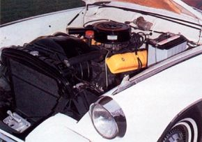 The engine in the Gran Turismo Hawk was a 289-cid V-8 with 210 or 225 horspower.
