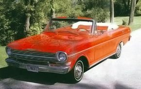 The 1962 Chevy II came in three series and five body styles. The sportiest-looking of the lot was the $2,475 Nova 400 convertible -- 23,741 were produced that year.