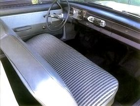 Interiors in the 1962 Chevy II 100 series were basic yet attractive. This car doesn't even have a cigarette lighter!