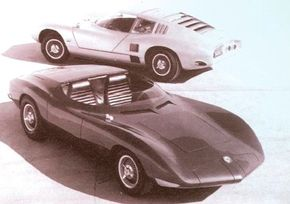 The Chevrolet Corvair Monza SS with its coupe companion, the Monza GT. Their styling hinted at what was to come for the 1968 Corvette.