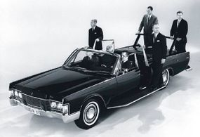Delivered in fall 1967, the Lehmann-Peterson Secret Service cars featured the grille and other trim parts from the 1968 Lincoln.