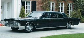 The 1967 Lincoln Executive Limousine featured a revised side-window treatment with a vinyl-covered panel just behind the front doors. See more classic car pictures.