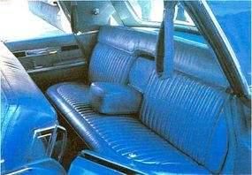 Comfort was the name of the game, and even rear-seat Imperial passengers sat in the lap of luxury.