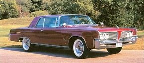 New straight-edged styling for 1964 resulted in a clean, stately look for the Imperial. See more classic car pictures.