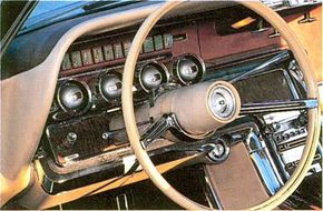 A popular accessory was the swing-away steering wheel, which swung about 10 inches to the right to ease entry and exit.