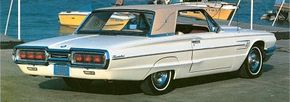 In the last year of its design, the 1964-1966 Ford Thunderbird gained a redesigned grille and taillights.