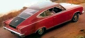 The 1965 AMC Marlin fastback hardtop featured unique semi-elliptical side window openings. See more classic car pictures.