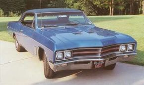 The dummy hood scoops were reshaped for the 1967 Buick Gran Sport.