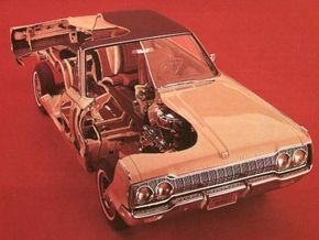 The new Monaco was chosen to serve as the basis for a full-scale cutaway designed to give auto show visitors a look at what went into the 1965 Dodges.