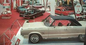 The cutaway Monaco competed at auto shows with advanced concept cars, winning Dodges from the nation's racetracks, and other 1965 Dodges.