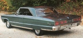 Canadian 1966 Dodge Monaco 500s, as shown here, used Plymouth interiors.