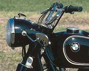 The R-27's swingarm pivoted off a rigid fork.
