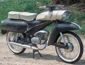 Streamlined styling distinguished t Hummel 155. The German bike was never was exported to America. See more motorcycle pictures.