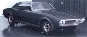 This 1965 Pontiac Firebird mock-up borrows the Chevrolet Camaro chassis and bodyshell.