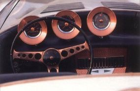 The copper-accented dash was striking and attractive.