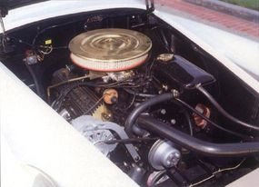 Copper was incorporated under the hood of the 1965 Mercer Cobra.