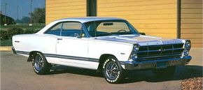 The mid-size Ford Fairlane received new styling and more power for 1966. See more classic car pictures.