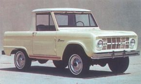Chromed bumpers and bumper guards were options on the 1966 Ford Bronco.