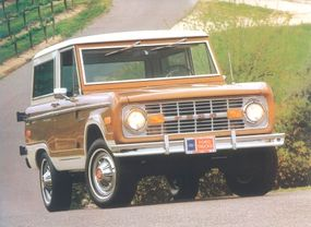 The Ranger option group included special colors and striping, an argent grille, and other upgrades.