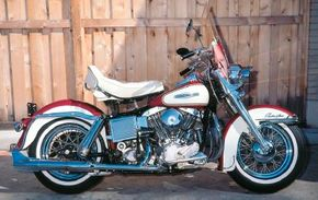 Windshield, dual spotlights, and a backrest for the Buddy Seat were all popular accessories.