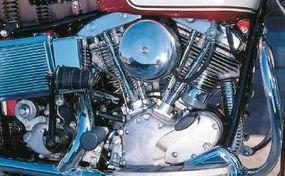 The new Shovelhead engine had valve covers resembling inverted shovel blades, hence the name.