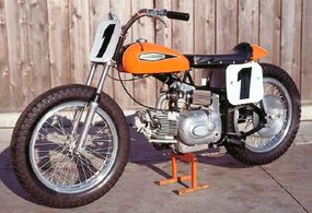 Harley's Sprint-based CR250 flat-tracker was a competitive mount right out of the box.