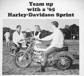 """A Harley ad of the time asked, """"Would you like to quarterback 250cc of hustle?"""""""
