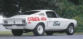 In mid-model year 1968, Ford introduced the new 428 Cobra Jet, a powerful speed machine. See more classic muscle cars pictures.