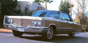 The 1968 Imperial grille wrapped around the front fenders to enclose the side-marker lamps. See more classic car pictures.