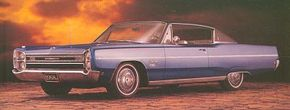 The restyled 1967 Plymouth Sport Fury retained the vertical headlight/horizontal taillight theme of the previous model yet looked markedly different.