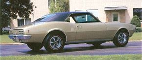 Few styling changes were made for the '68 Pontiac Firebird, but the six-cylinder and base V-8 grew in both size and power.