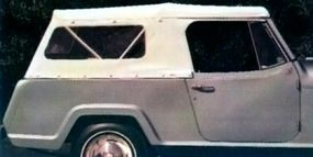 Various tops were offered for the Jeepster.