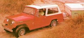 With a full-length top and rear seat, the Commando became a versatile Station Wagon.
