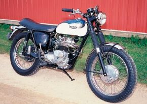 Fun to ride and loaded with personality, Triumph's T100 models were popular into the 1970s. See more motorcycle pictures.