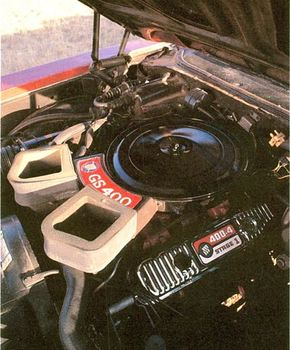 The Stage 1 engine package for 1969 tweaked horsepower in the GS400 up to 345.