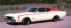 A NASCAR-inspired Cyclone Spoiler was offered in the red-on-white 'Cale Yarborough Special.'