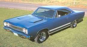 The 1968 Plymouth Satellite GTX featured special striping, bold GTX nameplates, and a performance hood.