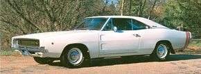 A later Dodge Charger model featured a filled-in fastback roofline and a flush grille.